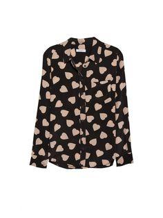 EQUIPMENT Brett Black/Nude Heart Print   Long Sleeve Shirt I totally Heart this shirt!