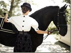 Derby fashion. Love this look! Black and white. Sophisticated.