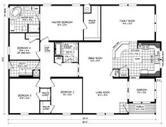 Triple Wide Mobile Home Floor Plans | Russell from Clayton Homes