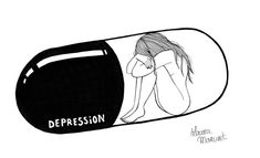 DEPRESSION. _ #depression #sadness #lonely #blackandwhite #blackworknow #art #artist #artwork #women #pills #feelings #emotions #graphicdesign #ink #illustrator #illustration #instaart #project #drawing #blackworkillustrations