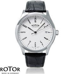 Rotor Uhr - klassische Automatikuhr im Bauhaus Stil - 9R38CS