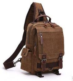 Kemrrey Canvas Casual Shoulder Bag Cross-Body Messenger Bag Backpack Travel Rucksack for Women and Men Messenger Bag Backpack, Canvas Messenger Bag, Sling Backpack, Small Backpack, Laptop Backpack, Travel Backpack, Stylish Backpacks, Men's Backpacks, Canvas Backpacks