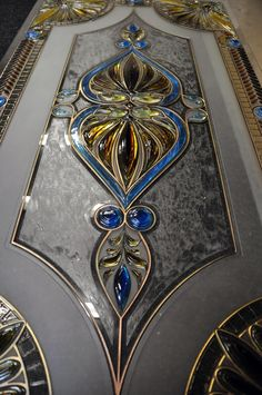 Home Decor - Display Your Talents, And Your Tastes Stained Glass Door, Stained Glass Crafts, Stained Glass Designs, Stained Glass Panels, Stained Glass Patterns, Leaded Glass, Mosaic Glass, Window Glass Design, Pooja Room Door Design