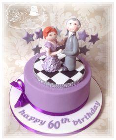 Ballroom dancers cake by Kaye's Backroom Cakery