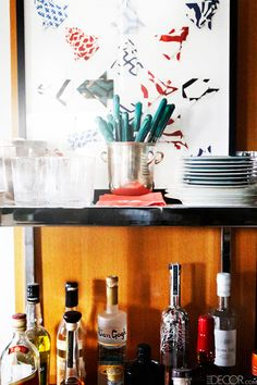 How to Stock Your Bar - How to Organize Your Bar Cart - ELLE DECOR