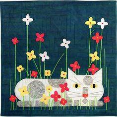 Summer Gardener Applique Cat Pattern, Charley Harper's Quilts by Treglown Designs at Creative Quilt Kits