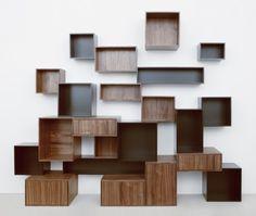 CubIt système de rangement étagère cubes couleur noyer noir