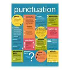 punctuation poster, I have been informed that I need this!  lol