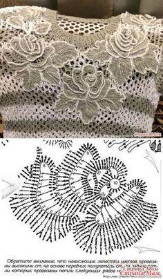 Irish lace Irish crochet flower motives, off white flower applique, Irish crochet decor, wedding dec Filet Crochet, Freeform Crochet, Crochet Diagram, Crochet Chart, Crochet Leaf Patterns, Crochet Motifs, Crochet Designs, Crochet Butterfly, Crochet Flowers