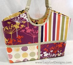 Joan Hawley joined by Blog Tour, featuring the Hobo Tote. From one handbag designer to another, I thank Joan for her terrific interpretation of my newest bag/tote template set. Love the fabric combo.