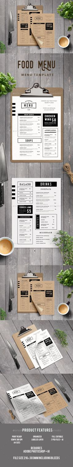 Food Menu Template PSD, AI