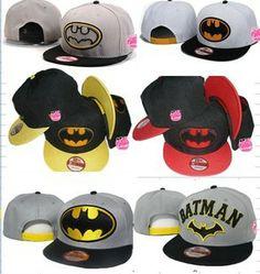 AAAwholesaler : Buy New 2014 batman snapback baseball caps bboy hip hop Cartoon cap hiphop hat Winter Sport Hats Letter Baseball Caps Free ...
