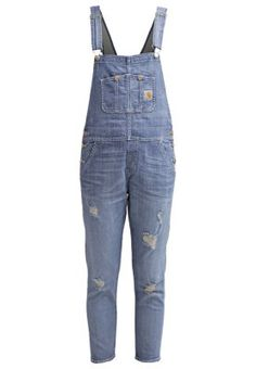 BIB - Latzhose - blue Overalls, Pants, Outfits, Fashion, Trousers, Trouser Pants, Moda, Fashion Styles
