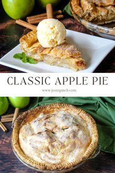 Easy, homemade apple pie recipe. Top with ice cream for a delicious fall dessert! Homemade Apple Pies, Apple Pie Recipes, Fall Dessert Recipes, Fall Desserts, Apple Crisp, Fresh Lemon Juice, The Fresh, Pumpkin Spice