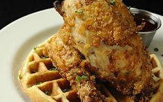 Mentioned in movies like Rush Hour and Swingers, Roscoe's is arguably the most famous place in America to satisfy a chicken and waffles craving. It has grown to six locations, with another set to open in Anaheim, walking distance from Disneyland. The southern-style chicken is delivered three times a week and skillet fried to perfection, while your waffle comes with a side of maple syrup made from natural sugarcane. If it's your first time, ask for a No. 9—three wings, waffles, potato salad…