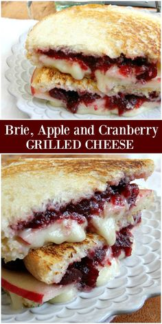 Sharing a Brie Apple and Cranberry Grilled Cheese Recipe with a secret ingredient! This is the best grilled cheese recipe. Grill Sandwich, Soup And Sandwich, Steak Sandwiches, Sandwiches For Dinner, Fall Recipes, Holiday Recipes, Recipes Dinner, Grill Dessert, Vegetarian Recipes