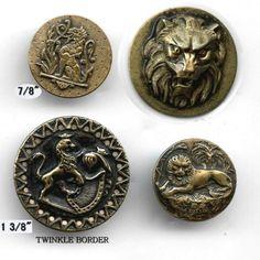 Antique Lion buttons.