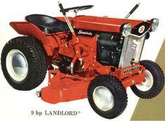 Vintage Homelite Garden Tractor Lawn Mower Gardens