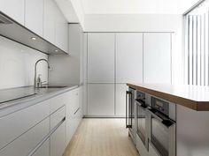 cocina moderna con diseño de estilo futurista