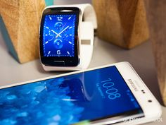 Samsung Gear S and the Samsung Galaxy Note Edge