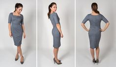 4-Way Stretch Empire Dress