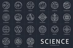 26 Conceptual Science Marks by Youhhou on Creative Market