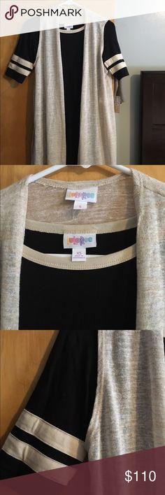 HTF Lularoe Julia/Joy outfit HTF Lularoe XS black/cream Julia with coordinated S cream Joy cardigan LuLaRoe Dresses