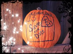 four of four pumpkin pictures DIY save the Date