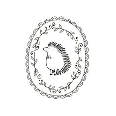 Hedgehog Embroidery Pattern Printable by teenytinyhappythings