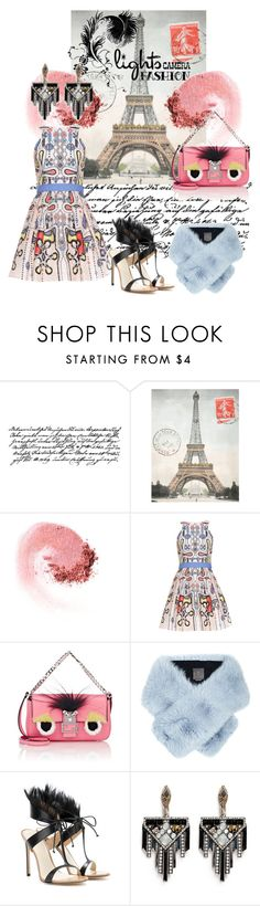 """""""Paris is always a good idea"""" by jglammy ❤ liked on Polyvore featuring Cavallini, NARS Cosmetics, Peter Pilotto, Fendi, Lilly e Violetta, Francesco Russo and Lulu Frost"""