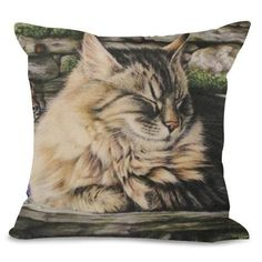 Sleeping Fluffy Cat Design Cushion Cover - Cat Lovers Australia Cat Lover Gifts, Cat Lovers, Cat Themed Gifts, Cat Cushion, Fluffy Cat, Cat Design, Cute Cats, Great Gifts, Cushions