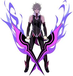 ✧ #characterconcepts ✧ Protagonist, Battle  - Conception II: Children of the Seven Stars