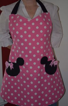 Pink Minnie Mouse Apron Inspired by Our Love of Minnie. $27.00, via Etsy.