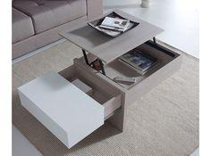 Esta espléndida mesa de centro elevable con tonalidades inspiradas en acabados nórdicos, es ideal para comer o trabajar frente al televisor. Incorpora 2 compartimentos para guardar tus cosas.