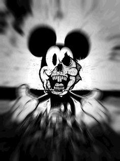 Bilderesultat for mickey mouse swag Dark Disney, Evil Disney, Zombie Disney, Creepy Drawings, Dark Art Drawings, Creepy Art, Wallpaper Do Mickey Mouse, Mickey Mouse Art, Graffiti Art
