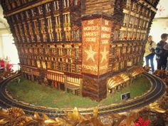 Love this Macy's replica (made from plant materials) at the Holiday Train Show in NYBG! #NYC