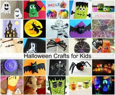 halloween crafts for kids 1 - Halloween Crafts For The Classroom