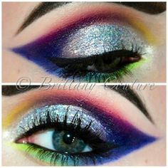 Fantasy makeup - Make up ideas - Color Guard Makeup, Sugarpill Cosmetics, Fantasy Make Up, Carnival Makeup, Beautiful Eye Makeup, Perfect Makeup, Theatrical Makeup, Colorful Eye Makeup, Crazy Makeup