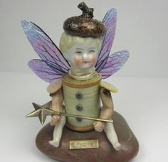 Fairy Imagine  Assemblage Art Doll by ferrytalesgifts