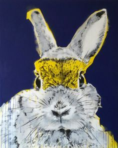 """super rabbit"" mixed media on canvas, Nicol Lunardi Mixed Media Canvas, Rabbit, Fine Art, Animals, Bunny, Rabbits, Animales, Animaux, Bunnies"