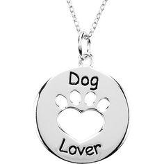 Heart U Back Dog Lover Paw Necklace