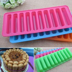 Newest Silicone Bread Loaf Cake Mold Long stick shaped Bakeware Baking Pan Oven Mould DIY kitchen Bar tool