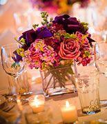 Beautiful purples - Sam's Chowder House wedding.