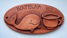 originální keramická cedulka /koupelna/ Keramická jmenovka, velikost 20 cm. Uveďte…