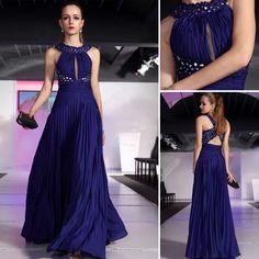 Stunning Royal Blue Evening Dress