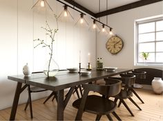 wooden vintage dining room