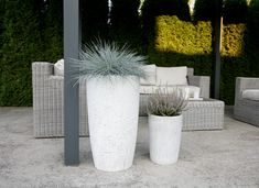 Design flowerpots that we offer in 3 different sizes. It is perfect for both the interior and exterior as well because each flowerpot has inside and outside impregnation against soaking water. Each piece is original and handmade. If you have any questions, please do not hesitate to contact me. Flower Pots, Interior And Exterior, Concrete, Planter Pots, The Originals, Water, Handmade, Beautiful, Design
