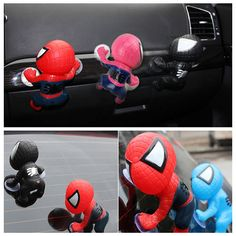 4x #climbing spiderman doll car body parts window rear dashboard #decor #sucker t,  View more on the LINK: http://www.zeppy.io/product/gb/2/262658692268/