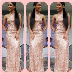 69e47e2ecf1 Bridesmaid dress Long Blush Silver Sequin Prom Mermaid Rose Gold Open Back  Dress Long dress cocktail dress formal elegant dress sexy dress