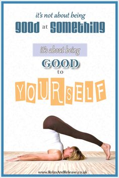 """Mindfulness Quote: """"It's not about being good at something, it's about being good to YOURSELF."""" ~ Anonymous  ...... #quote #lifequote #inspiration #mindfulness #quoteoftheday #inspirationalquote"""